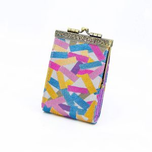 Confetti Pattern Brocade Card Holder with RFID Protection